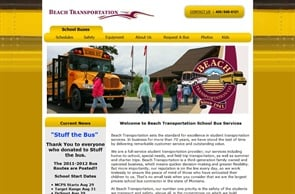"""Beach Transportation has a """"Current News"""" section on its home page so users can get up-to-date information quickly."""