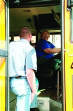 At Fairport (N.Y.) Central School District, new drivers go through a series of training modules one-on-one with a trainer. Both must sign off on each module as it is completed.