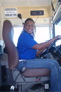 LaTania Davis is one of Houston-based Spring Independent School District's auxiliary (aka substitute) drivers. Under transportation department policy, employees must be a full-time bus driver for at least one year before they can apply for a substitute position.