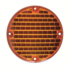 Research has found that driver reaction time to LEDs is significantly faster than to incandescent lights. Pictured is SoundOff's 7-inch LED amber warning light.