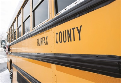 The district employs 84 bus driver supervisors who perform myriad duties to support drivers on the road, including helping during emergencies, delivering equipment, and being a backup driver or attendant. Photo courtesy Fairfax County Public Schools