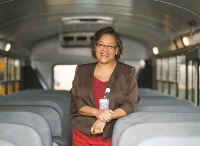 "Francine Furby, the director of transportation for Fairfax County Public Schools, says that the district's discipline-tracking system ""fosters a partnership with the schools and strengthens their support of our drivers."" Photo courtesy Fairfax County Public Schools"