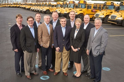 Shown here is the Krapf Group's executive team, including Blake Krapf, president and CEO, fifth from the left.