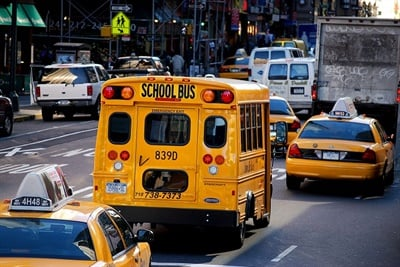 The New York City Department of Education teamed up with ridesharing company Via in August to launch a new school bus routing, tracking, and communication platform, in addition to installing GPS systems on all of its school buses. File photo courtesy Katrina Falk