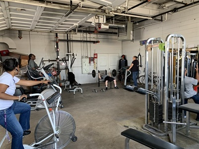 Lakeview Bus Lines in Bellwood, Ill., has five rooms that employees canuse for a wide variety of activities, including exercising. Photo courtesy Jamie Enger
