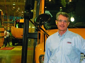 John O'Leary, president and CEO of Thomas Built Buses, says that plant improvements have enabled the company to build higher quality buses in a safer and more productive environment.