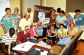 "The 2009 Maryland Driver Instructor Conference had a pirate theme: ""Navigating the High Seas of Transportation."""
