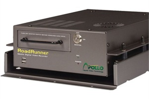 Apollo Video Technology's RoadRunner mobile DVR provides months of onboard storage with hard drives up to 2.0TB.