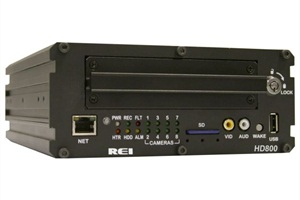 REI's HD800 DVR can have up to eight cameras. It can be set to record and download pre-configured events, and users will receive an alert when those events occur.