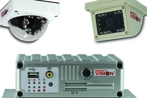 Safety Vision's SVR-4100 solid state DVR can accommodate the company's SV-835 series of cameras, of which dome and wedge versions are available.