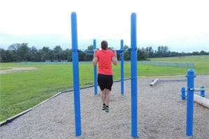 Resourcefulness is good in getting exercise. For example, an elementary school may provide a playground area, which could be ideal for calisthenics.