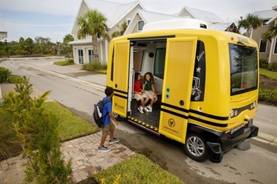 Transdev has stopped running an autonomous shuttle to transport students in a Florida pilot after NHTSA told it to cease operation, because it hadn't approved the shuttle for that purpose.