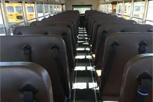 "Jill Gayaldo, director of transportation at Elk Grove Unified School District in California, says that the added cost of three-point restraints ""wasn't going to make or break our ability to buy new buses."""