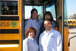 Drivers for the Pupil Transportation Cooperative in Whittier, Calif., are employed by the cooperative. Officials say a factor to consider when forming a cooperative is whether employees will be hired from the outside or hired from member districts' transportation departments.