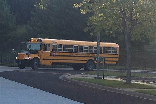 The Ohio Shared Services Collaborative is projecting an average savings ranging from $242,000 to $376,000 in 25% of its districts so far. Shown here is a school bus for Noble Local School District, which is one of the participating districts.