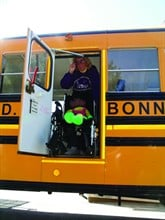 A student in a wheelchair cannot be evacuated from an emergency exit that is 24 inches wide. A manual wheelchair needs at least 30 inches of clearance.
