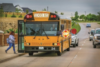 Every state has some type of law requiring motorists to stop when school buses are stopped. Photo courtesy Mitzi Bowers