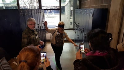 The Oregon Pupil Transportation Association focused its 2016 Winter Workshop on educating attendees about the effects of drugs and alcohol after recreational marijuana was legalized in the state. In one workshop exercise, attendees wore goggles that simulate the experience of being under the influence of alcohol or drugs.