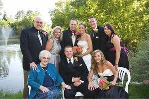 Transportation consultant Theresa Anderson (back row, second from left) ranks her growing family as her top achievement.