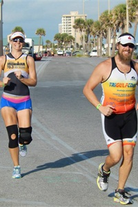 Patrick Willi and his wife, Teresa, enjoy taking on triathlons, among many other challenging pursuits.