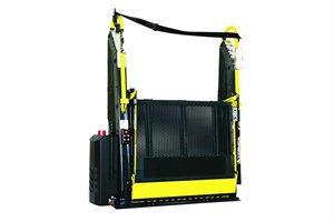 Ricon's K Series lifts provide an unobstructed view out of the bus' windows due to the folding platform design.