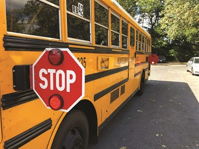 Montgomery County (Md.) Public Schools installed — for the first time — stop-arm cameras on all of its school buses for the 2019-20 school year. Photo courtesy Montgomery County Public Schools