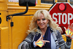Victoria DeCarlo made the Steffi Crossing Enhancer to help students see the bus driver's hand signal when crossing the street.