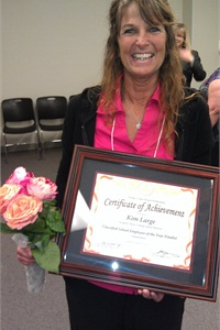 Kim Large was recently honored by the Orange County Board of Education as the Classified School Employee of the Year for transportation, a recognition she says was very humbling.
