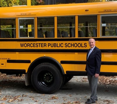 "John Hennessey, the director of transportation for Worcester (Mass.) Public Schools, has been described by colleagues as a ""problem-solver"" with a strong work ethic. He also cofounded the Massachusetts Association of Pupil Transportation. Photo courtesy John Hennessey"