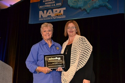 Reitano accepted SBF's Administrator of the Year award at the NAPT Summit in November. She is seen here with her daughter, Tracy Lynch.