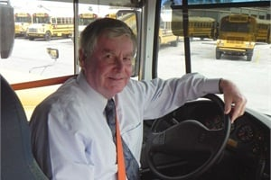 Early in his pupil transportation management career, Mike Connors went through school bus driver training and got a CDL. He still drives a bus from time to time.