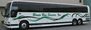 In addition to its 800 school buses, Birnie Bus Service operates about two dozen motorcoaches.