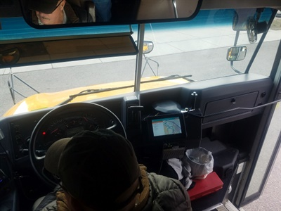 There is unanimous agreement that any mobile data terminal must be mounted in a location that does not obstruct the school bus driver's vision.