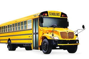 "IC Bus' CE Series school bus (pictured) will be available in a propane version in time for the 2015-16 school year. Reed points to the propane model's ""diesel-like performance"" as a key feature."