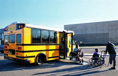 "Scheuler says he's seeing positive responses from parents to the new Collins Low-Floor bus: ""You can literally see the happiness in their face that their kid is now empowered to load themselves onto the bus with little to no assistance."""