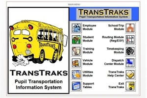 TransTraks Routing Module offers features such as run cutting, route optimization, mapping, student eligibility, driver time keeping and a dispatch center.