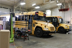 In months when salt is used on the roads, buses are brought in every two weeks to be washed to help prevent corrosion from the salt, which ultimately extends the service of the buses.