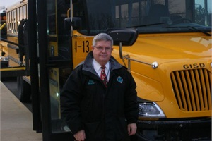 Gary West retired in December as director of transportation for GISD. During his tenure, he and the other staff worked to provide strong training for school bus drivers.