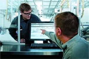 Software such as Navistar's OnCommand Maintenance and Inventory Management can help shops keep track of parts more easily. Photo courtesy of Navistar