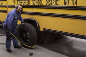 When the maintenance team at Evergreen Public Schools in Vancouver, Wash., establishes a best practice for an inspection procedure or repair, they discuss it and demonstrate it so everyone can see how it's done. Photo by Thomas Friedmann
