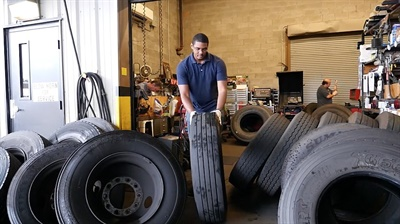 The maintenance department participates in a district program, the corporate classroom, which recruits high-functioning special-needs students and teaches them the skills they need to work in the garage.