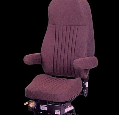 "The Seats Inc. Magnum 100 and 200 seats utilize what the company calls ""knee-action"" style suspension to ensure comfort by reducing the vertical motion of the seat."