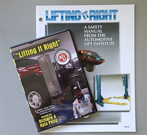 "The Automotive Lift Institute offers ""Lifting It Right,"" an online, interactive certificate course that is also available on DVD to teach proper vehicle lift use."