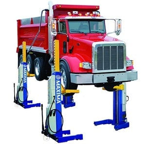 Four new Maxima heavy duty lifts that range in capacity from 66,000 to 111,000 pounds were all recently ALI certified.