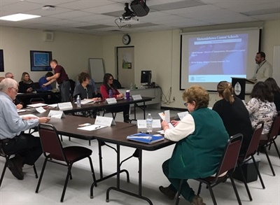 Shenendehowa Central Schools transportation staff participated in atwo-hour training workshop led by the Transportation Security Administration on March 7. Photo courtesy Shenendehowa Central Schools