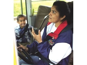 Digital two-way radios can improve school bus security through optional interoperability with first responders and GPS tracking.