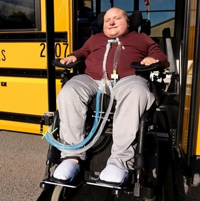 """Student Jake Tucker got to try out Carroll County School System's new Low-Floor Bus. He says that the ride is """"a lot smoother."""""""