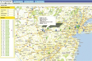 AngelTrax's MOTOTrax video surveillance management tool has vehicle tracking and automatic vehicle location capabilities. It can also provide a live view inside vehicles.