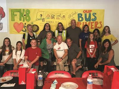 Florence (Ariz.) Unified School District #1 honors drivers during an annual recognition luncheon and includes students and other transportation staff members. Photo courtesy Florence (Ariz.) Unified School District