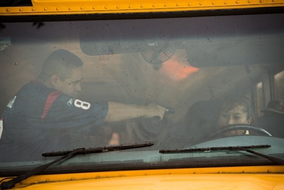 Although the thought of being faced with an incident such as an active assailant may be scary, preparing staff through training can alleviate fears. Shown here is an armed intruder training held by Houston Independent School District.